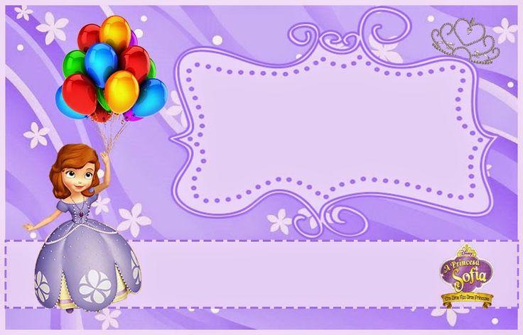 princesa sof u00eda  invitaciones para imprimir gratis