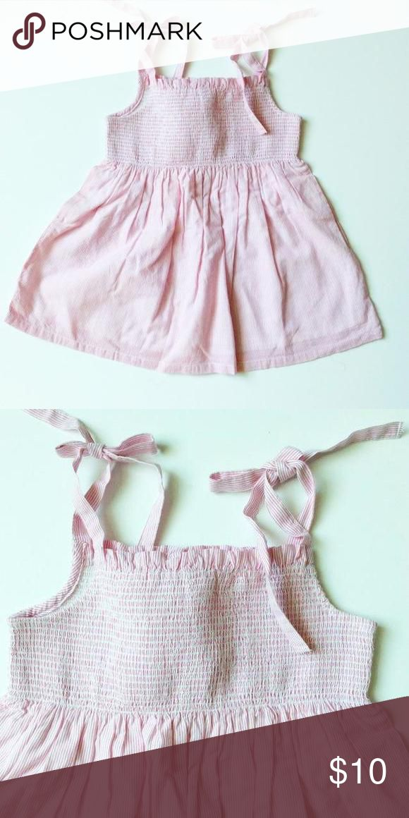 NWT Gymboree pink smocked top 100% cotton with elastic in the bodice and adjustable tie straps. Gymboree Shirts & Tops