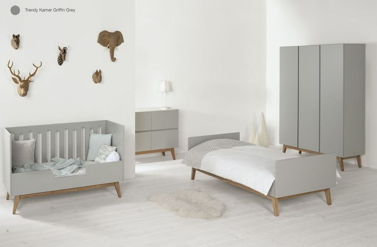 QUAX -Trendy nursery griffin grey. Baby room/Babykamer/Chambre bébé. Also available in white. Webshop Baby de Luxe - Belgium - Hasselt