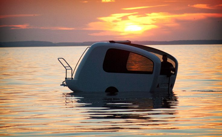 For all your aquatic/camping needs: the camperboat.Sealand Campers Boats, Outdoor Gears, Sealand Camperit, Floating Campers, Amphibious Campers, Campers Trailers, Sealand Amphibious, Small Campers, Camps