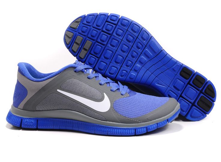 Cool Grey White Violet Force Nike Free 4.0 V3 Women's Running Shoes