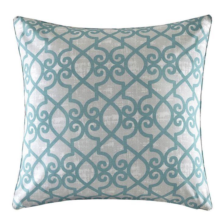 Madison Park 3M Scotchgard Outdoor Large Throw Pillow, Turquoise/Blue (Turq/Aqua)
