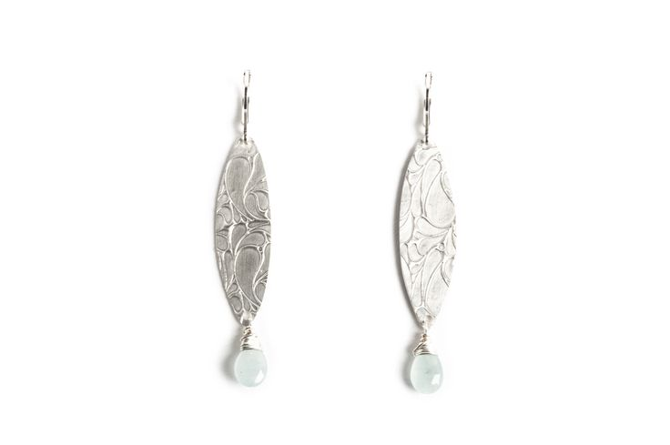 Sterling silver and aquamarine earrings. www.danielleoconnorjewellery.com