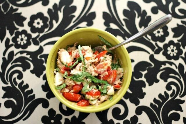 tuna caprese salad.