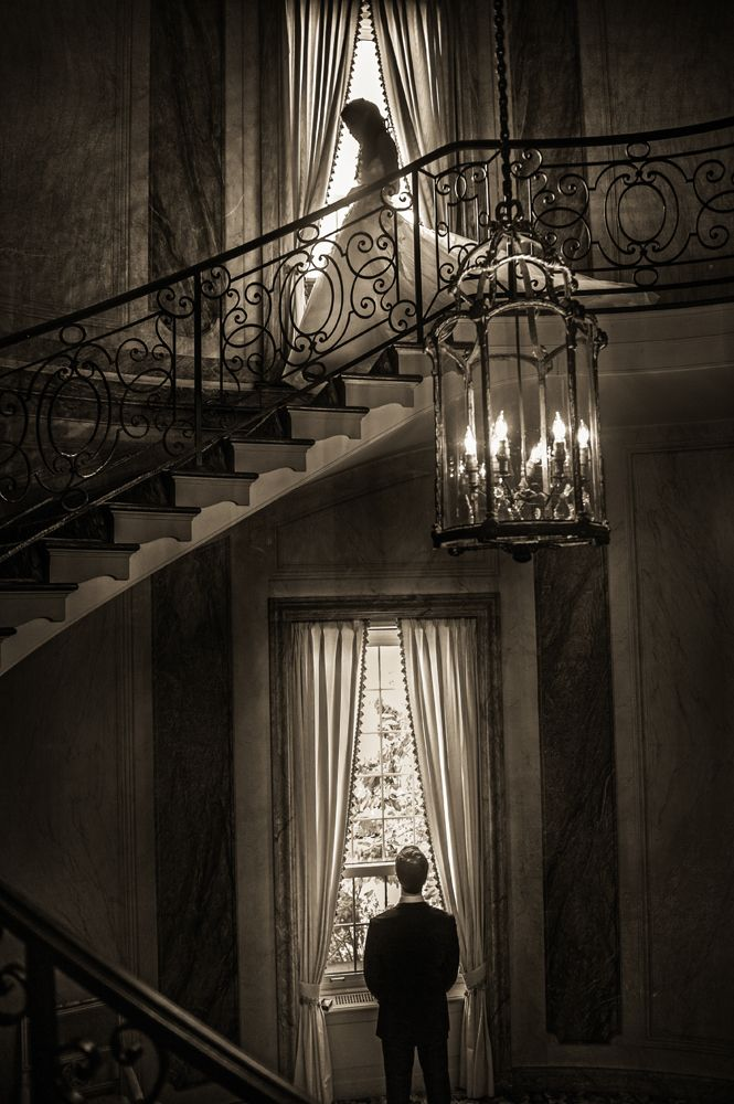 Susan Stripling  shares her work as one of the world's best wedding photographers. Here a bride descends the stairs where her groom awaits. Inspiring photography.  Click for more images from the world's best wedding photographers.:
