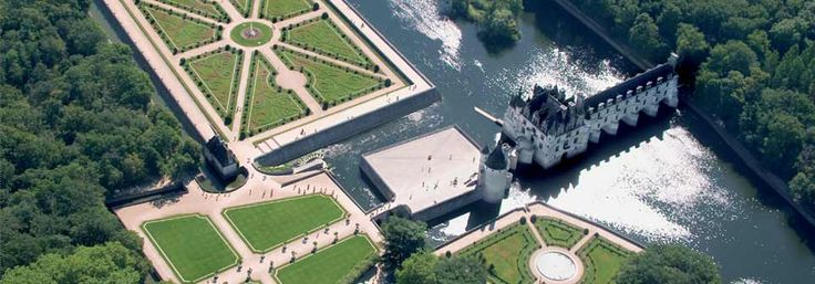 chenonceau castle - on the river cher in touraine, france - wonderful castle and beautiful grounds for touring with shop, restaurant, and picnic grounds
