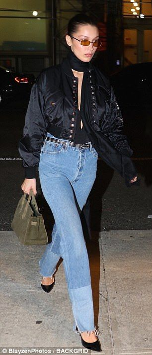 22397477afcf Do it up in Re Done denim like Bella. Click  Visit  to buy now.  bellahadid   redone  denim  DailyMail