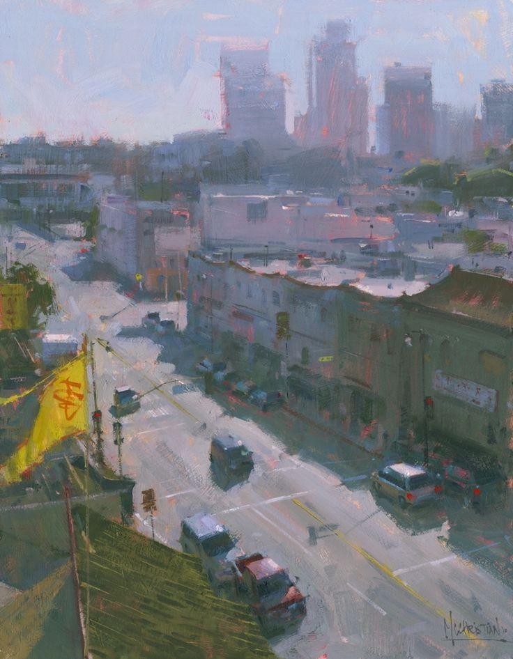 View from Empress Pavilion by Jennifer McChristian Oil ~ 18 x 14
