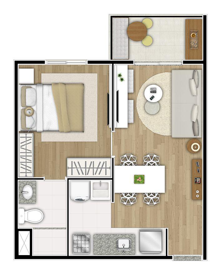 M s de 25 ideas incre bles sobre planos de apartamentos for Ideas para un apartamento pequeno