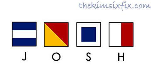 Personalized Maritime Signal Flag Art  via www.TheKimSixFix.com