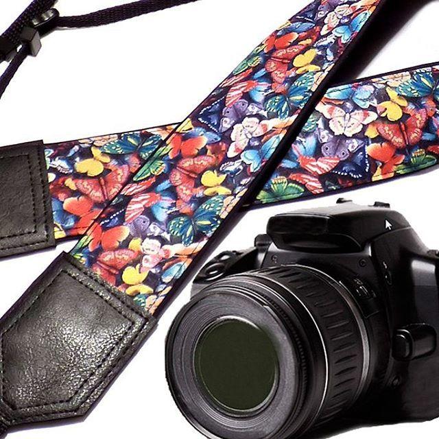 Butterfly camera strap. DSLR Camera Strap. Camera accessories. Camera strap for Nikon, Canon, Fuji, Sony and other cameras. $33