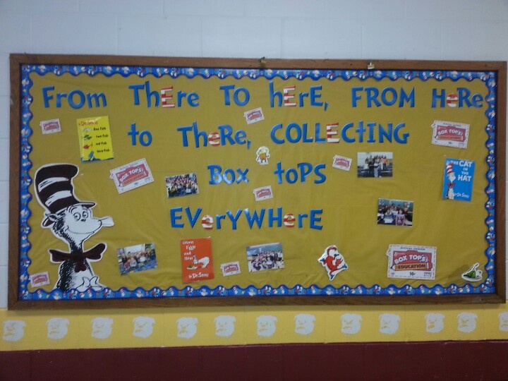 Bruceton School Dr. Seuss/Box Tops bulletin board ...