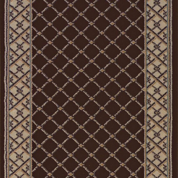Stairs option?  Natco Stratford Bedford Brown 26 in. x Your Choice Length Roll Runner-8264BWRN - The Home Depot