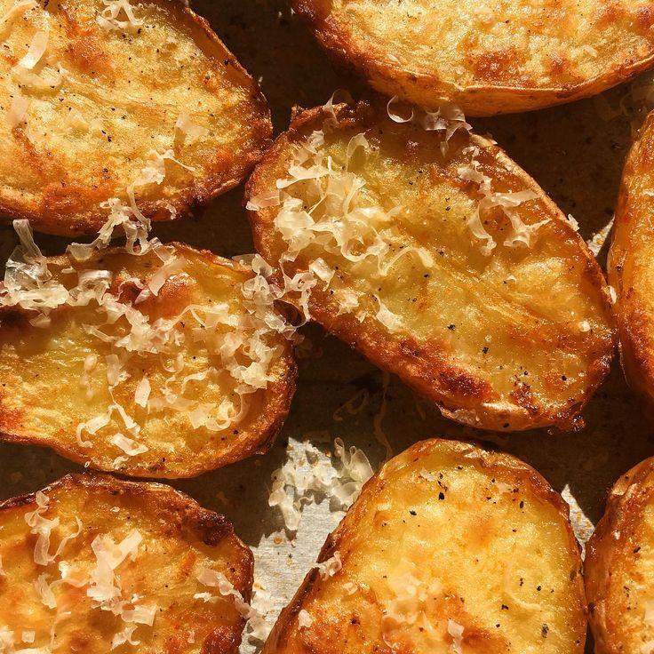Crispy Parmesan potatoes #fingerlings