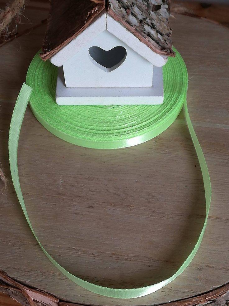 Très joli Ruban Satin vert 6mm : Fils, cordons pour bijoux par didine45
