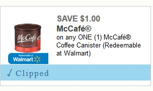 $2.50 in Savings on McCafe Coffee Products (12oz Ground for $5.49 at Kroger after the Coupon)