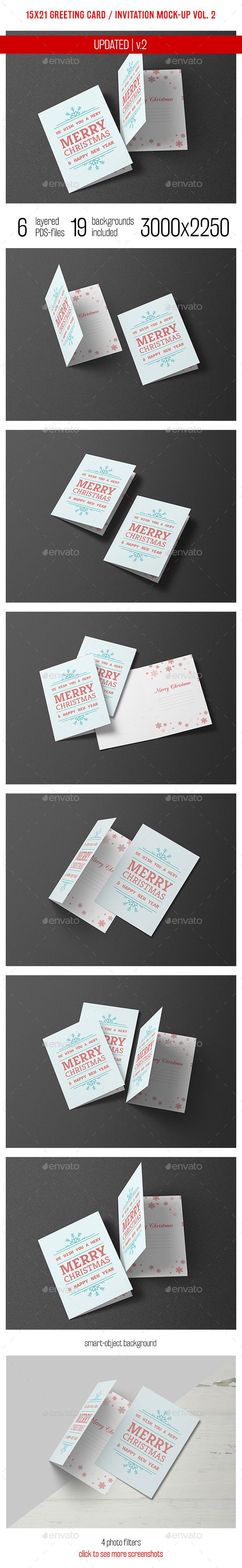 Greeting Card and Invitation Mockup Vol. 2 — Photoshop PSD #mock up #invitation • Available here → https://graphicriver.net/item/greeting-card-and-invitation-mockup-vol-2/9273315?ref=pxcr