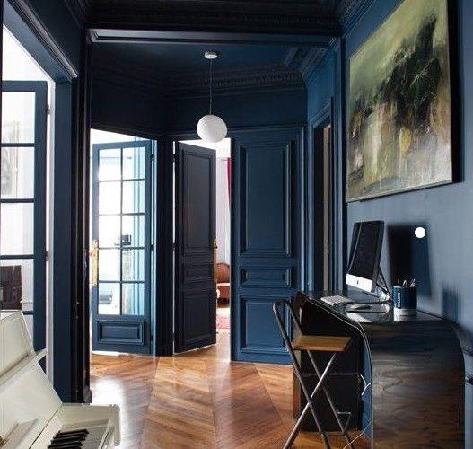 intérieur bleu - plafond