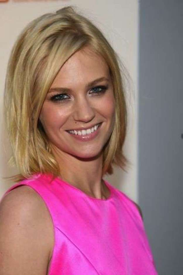 Cortes de pelo bob escalados: fotos de los peinados - January Jones look