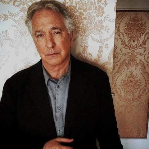 "This photo of Alan Rickman is from 2015. The shot was taken by a makeup artist named Sarah Reygate. She worked on the ""Start a Family"" video with Texas/Sharleen Spiteri and she did AR's makeup for the UK premiere of A Little Chaos. This is from her personal instagram"