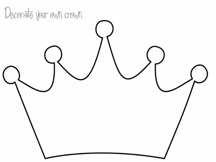 Princess Crown Coloring Pages For Kids