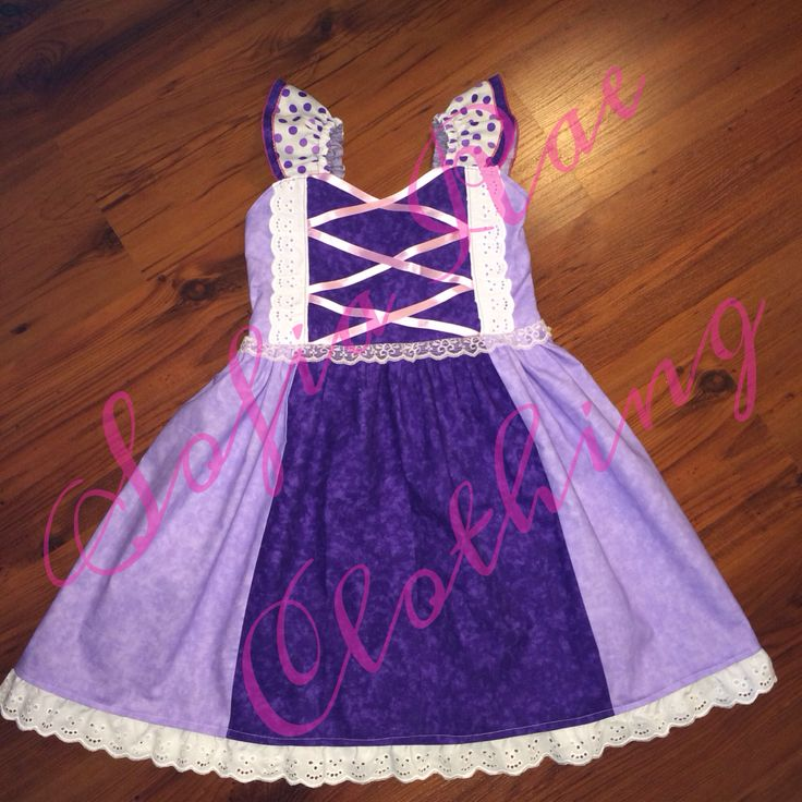 Visit us at: www.facebook.com/sofiaraescloset  Custom Rapunzel inspired dress
