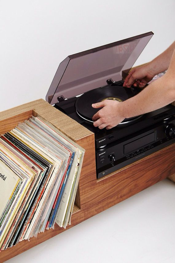 Record Player Console by cushdesignstudio on Etsy                                                                                                                                                                                 Mais