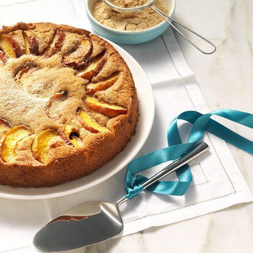 Volkoren spelt taart met nectarine - Amber Albarda