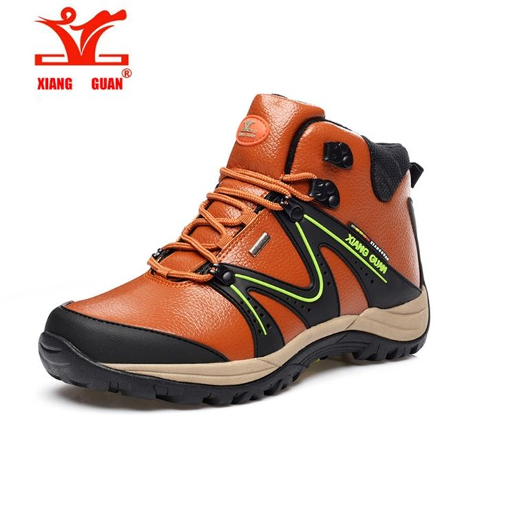 (51.60$)  Watch now - http://aitg5.worlditems.win/all/product.php?id=32722121383 - XIANG GUAN MAn shoes sales Leather Waterproof Hiking Shoes Slip Resistant outdoor Climbing Shoes Comfort Durable boots High
