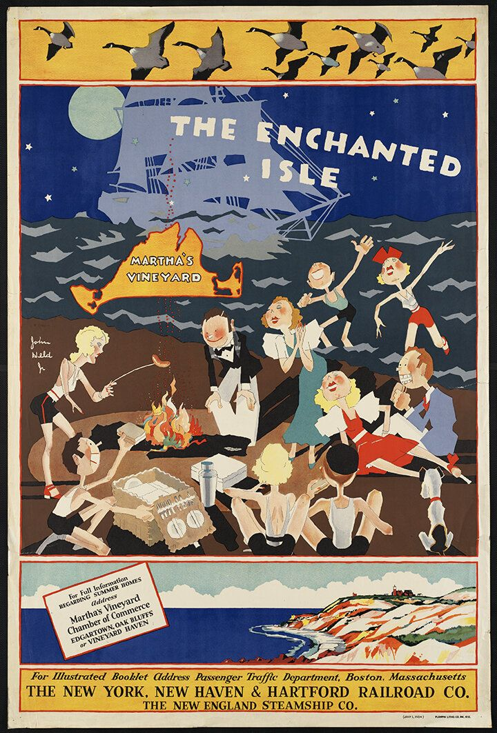 poster Wall art reproduction. poster New England : Vintage Travel advert
