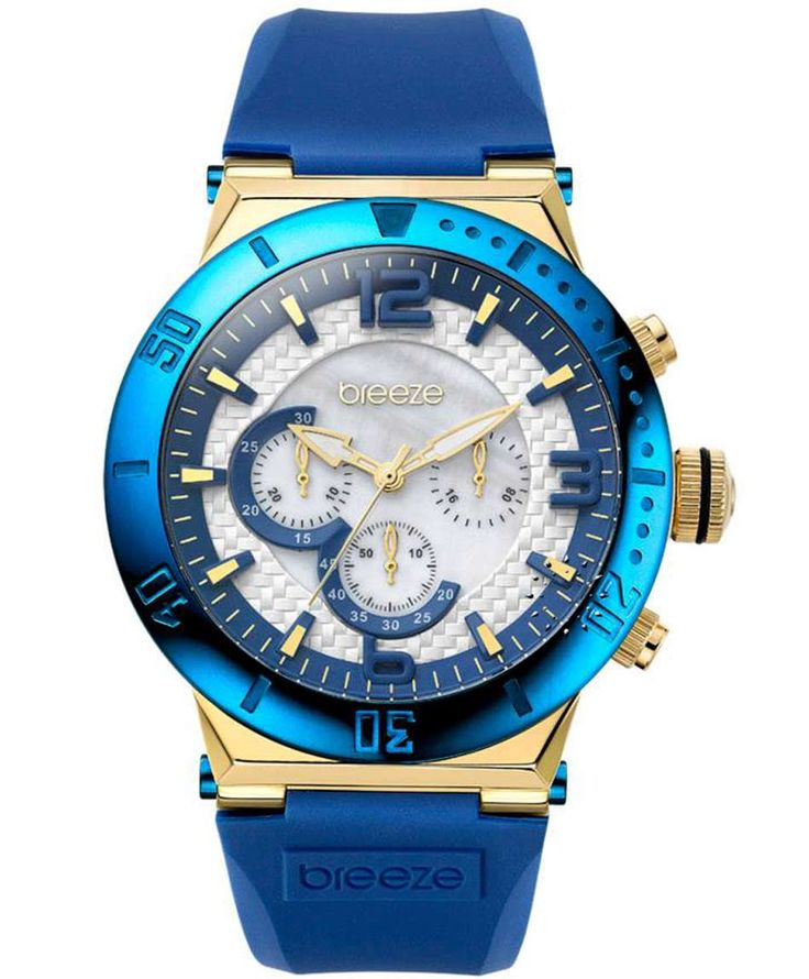 BREEZE High Fidelity Chrono Blue Rubber Strap Τιμή: 185€ http://www.oroloi.gr/product_info.php?products_id=35232