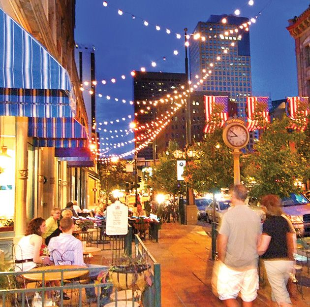 Larimer Square. Located in LoDo Denver, it is a fun hot spot with great restaurants, clubs/bars and shopping. Neat place!