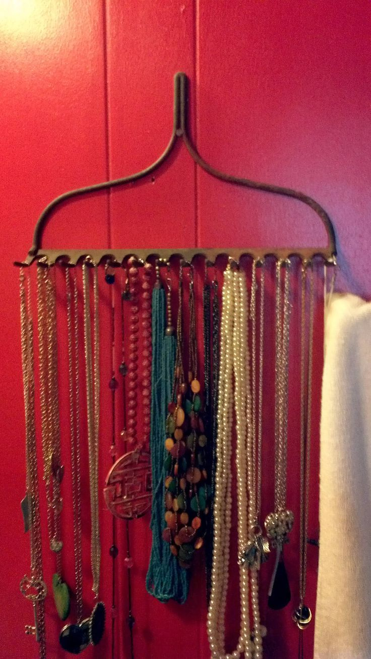 I tried the rake jewlery holder, love it:) #home #decor #diy