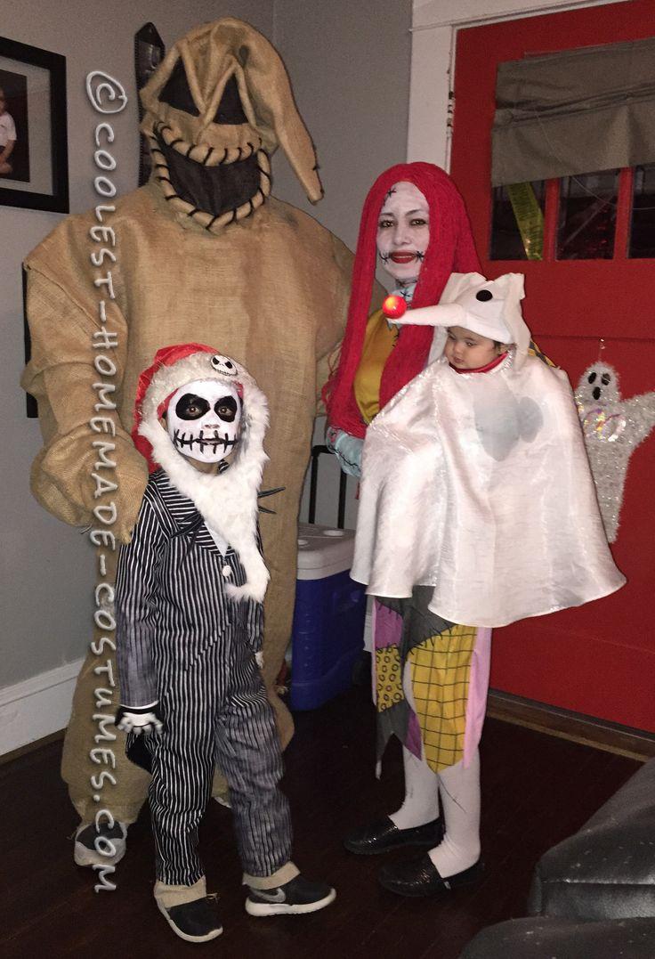 Christmas fancy dress ideas diy - Family Nightmare Before Christmas Theme Baby Zero Costume