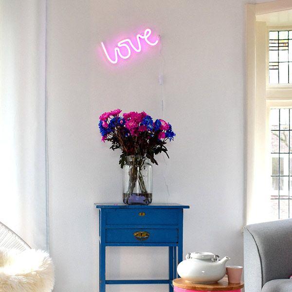 A Little Lovely Company - Neon stijl lamp - Love - roze