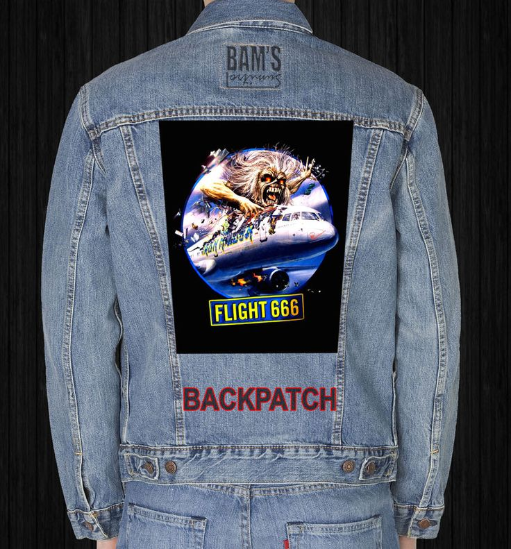 IRON MAIDEN FLIGHT666  GIANT BACKPATCH #Unbranded
