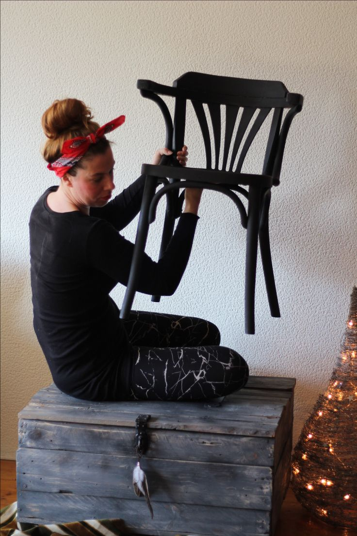 Black café chair!!! * €29,95 * www.oldiesamsterdam.com