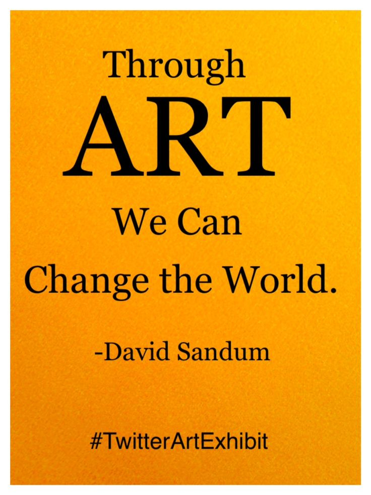 Through Art We Can Change the World. -David Sandum #TwitterArtExhibit helps charities and nonprofits with postcard-sized, handmade original artwork. @twitrartexhibit