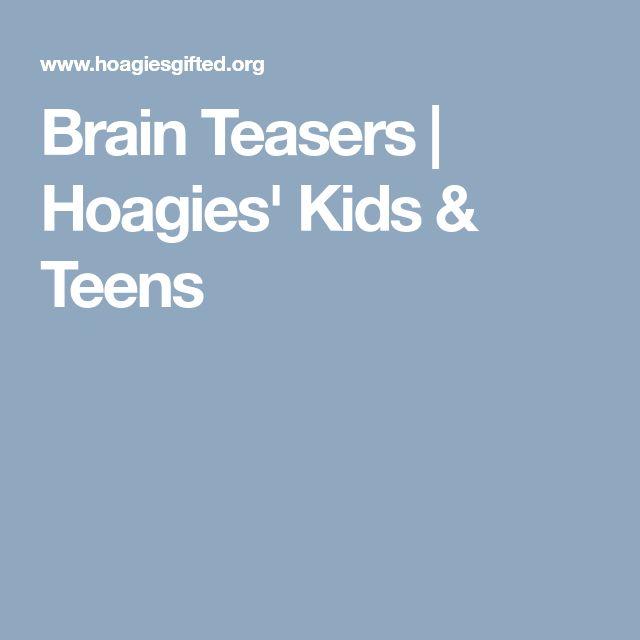 Brain Teasers | Hoagies' Kids & Teens