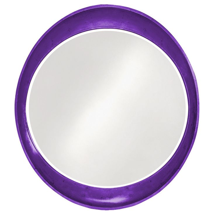 "Howard Elliott Ellipse Glossy Royal Purple Mirror 35"" x 39"" x 3"""