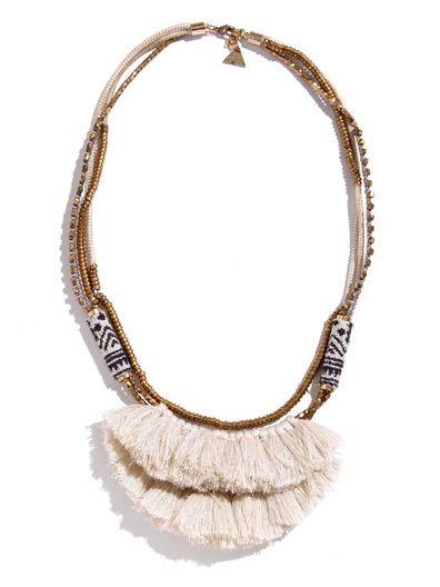 Serefina blanca de Hmong de la borla collar