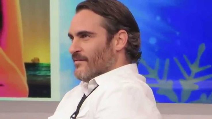 Joaquin Phoenix waiting for interview with George Stephanopoulos about I...