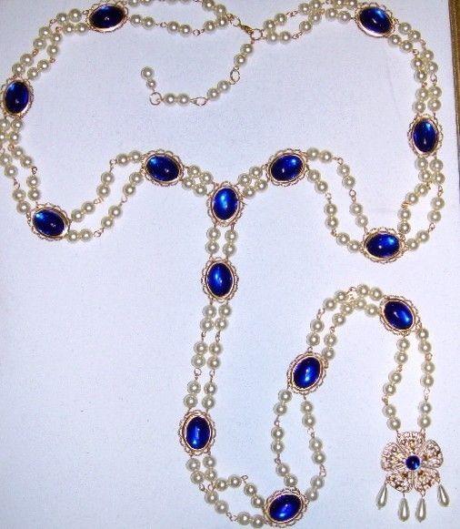The Lady Katherine Girdle Belt 4 Renaissance Medieval Tudor Dress Gown Costume. $68.50, via Etsy. Idea for blue surcote belt.