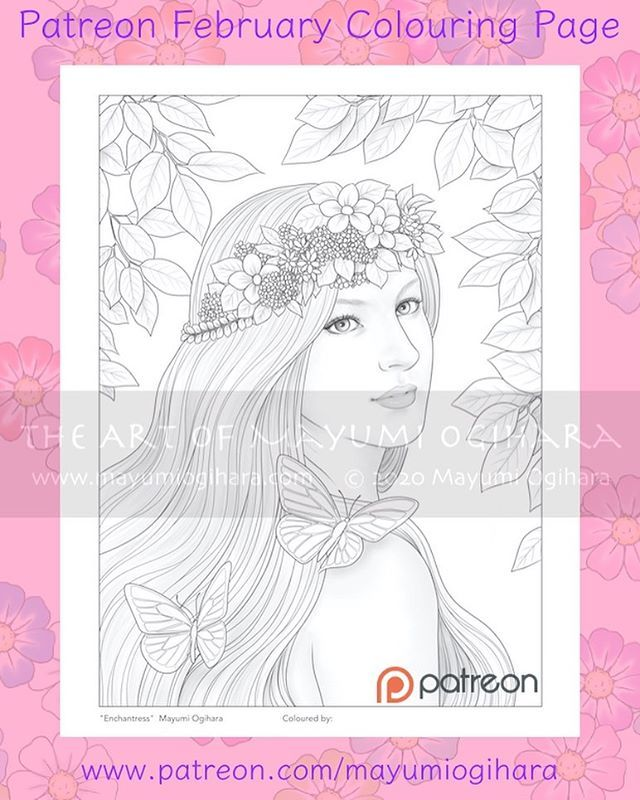 Patreon February Colouring Pages And Coupon Codes Are Posted Now Thank You So Much For Your Support This Design Enchantress And The Other Reward Colouring Page