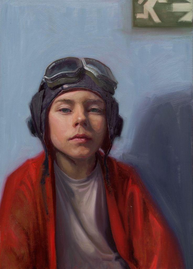 """Fly Away"" Oil on Linen, 70x50 cm Painting by Carolien van Olphen"