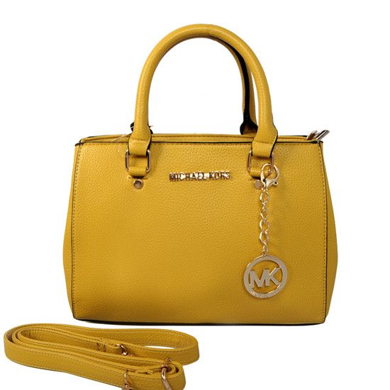 The Popular Michael Kors Sutton Medium Yellow Satchels Takes A Beautiful  Apperance.