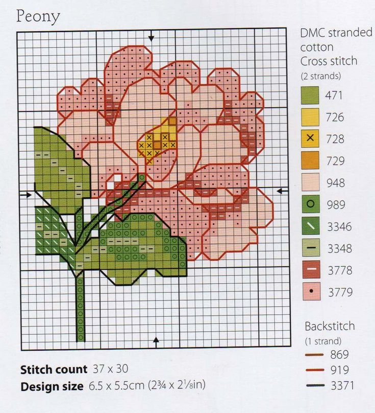 Peony flower, designed by Lesley Teare, from her blog.
