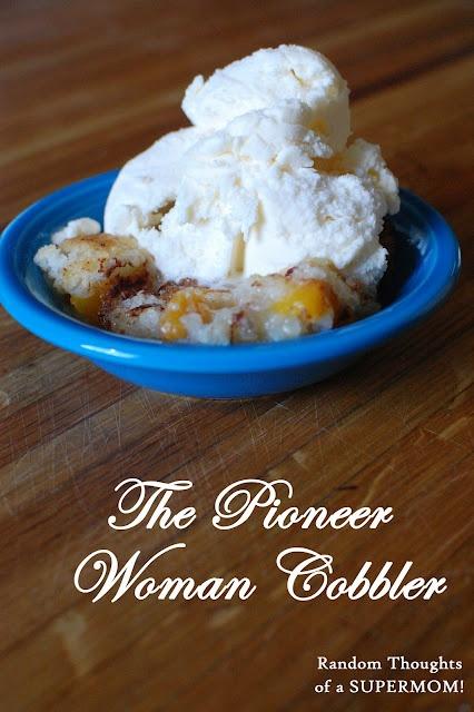 Pioneer Woman's fruit Cobbler.- potluck at my children's school