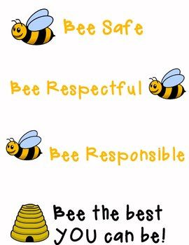 Classroom Rules Poster Bee Theme