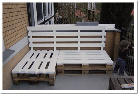 Outdoor furniture: Ideas, Pallets Benches, Pallets Patio, Wooden Pallets, Pallets Furniture, Pallet Furniture, Outdoor Benches, Diy, Old Pallets